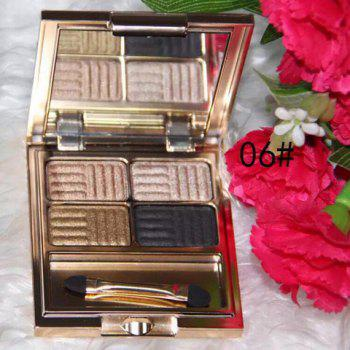 Cosmetic 4 Colours Pearl Matte Baked Eyeshadow Palette with Mirror and Brush