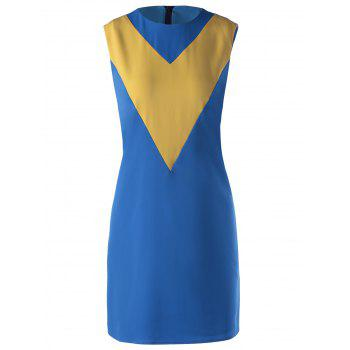 Stylish Color Block Dress For Women