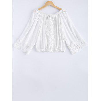 Fashionable Women's Lace Off-The-Shoulder Long Sleeves Blouse