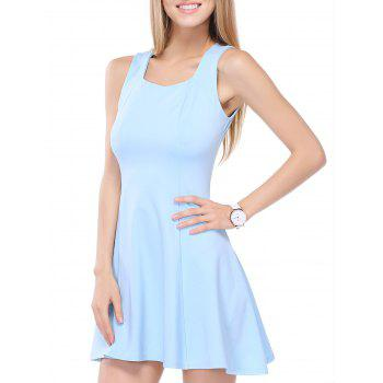 Flounced Square Neck Summer Dress