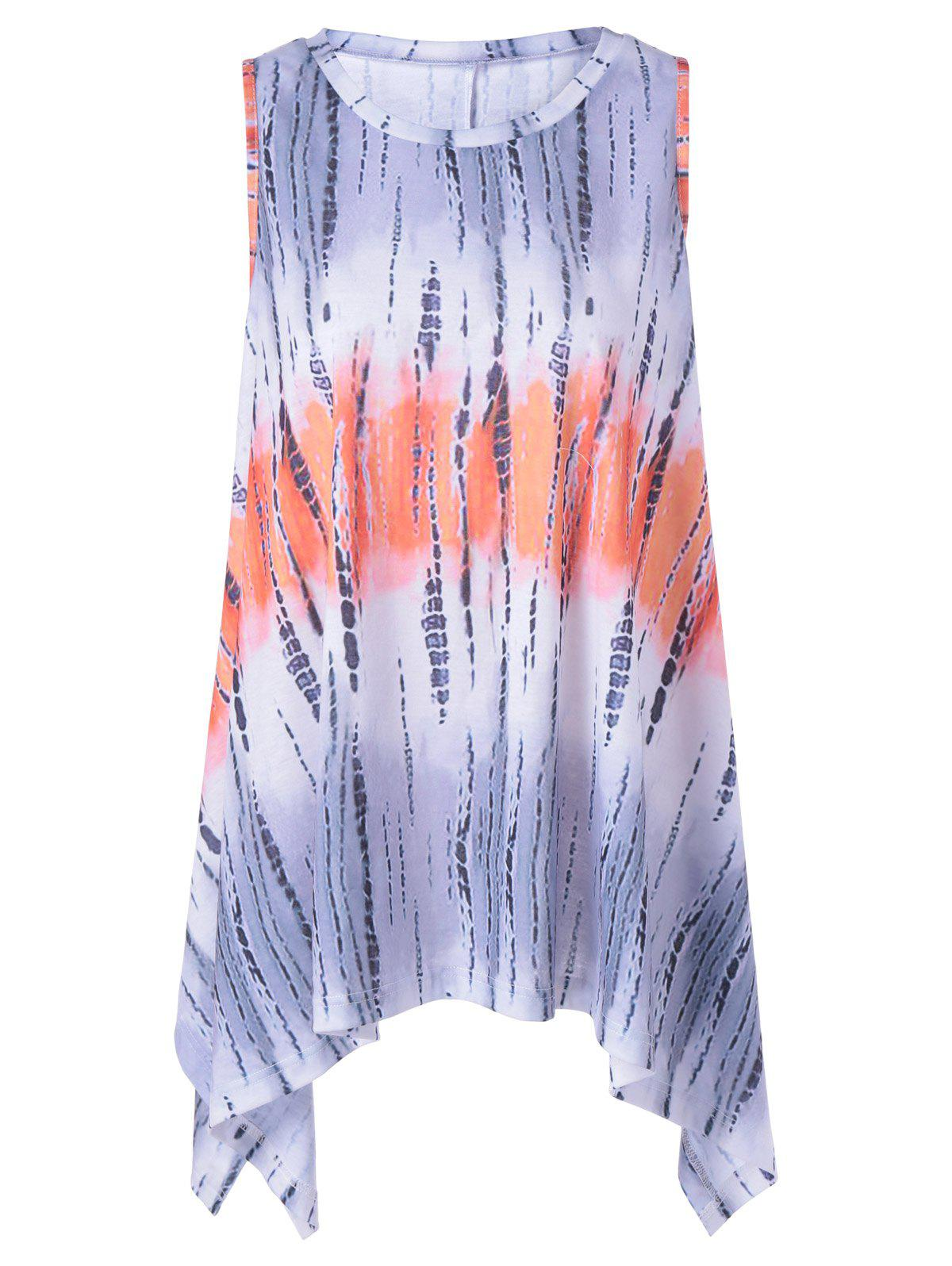 Fashionable Asymmetric Scoop Neck Dress With Ombre For Women