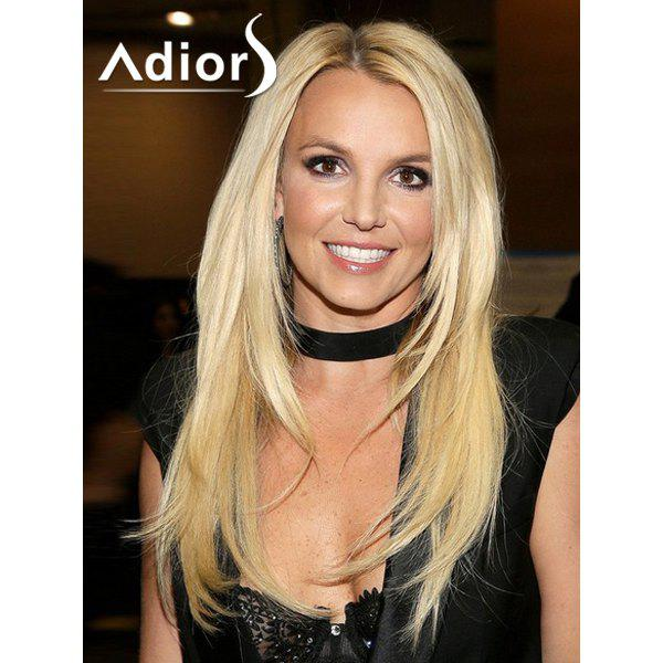 Stylish Blonde Mixed Synthetic Long Layered Side Parting Capless Wig For Women