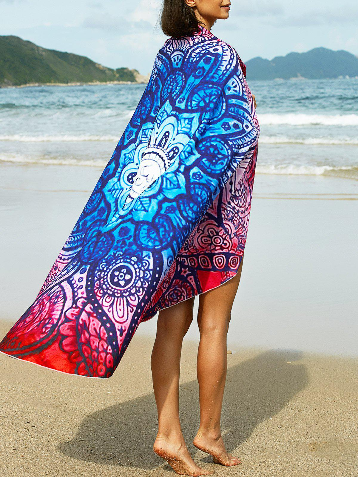 Bohemian Tribal Print Round Sarong For Women - COLORMIX ONE SIZE(FIT SIZE XS TO M)