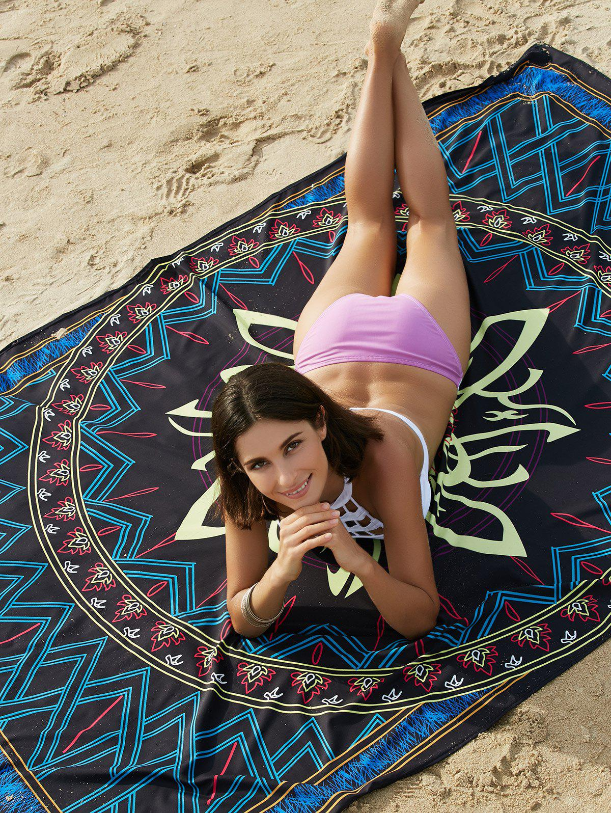 Bohemian Colored Tribal Print Beach Sarong For Women