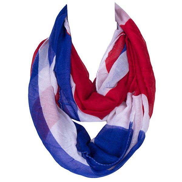 Stylish England Flag Pattern Women's Voile Infinite Scarf - BLUE