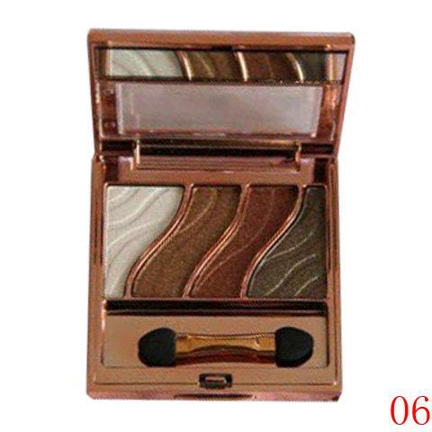 Cosmetic 4 Colours Smooth Mineral Eyeshadow Palette with Mirror and Brush -