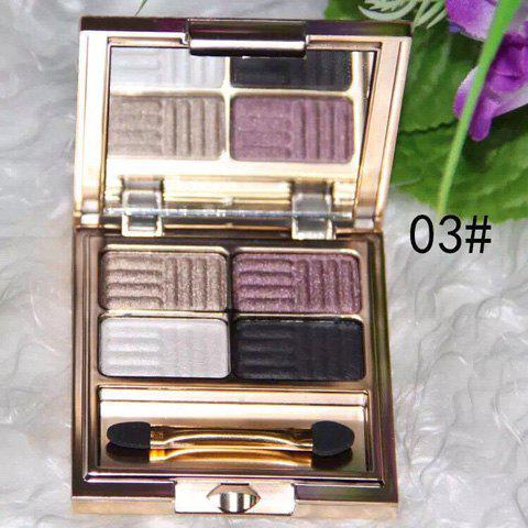 Cosmetic 4 Colours Pearl Matte Baked Eyeshadow Palette with Mirror and Brush от Dresslily.com INT
