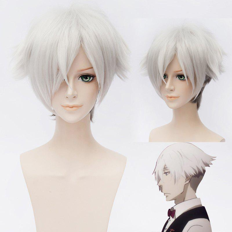 Chic Death Billiards Cosplay Synthetic Ombre Short Wig - COLORMIX