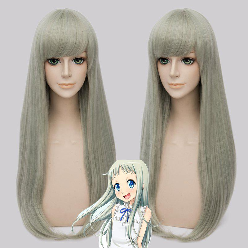 Fashion Synthetic Honma Meiko Cosplay Straight Long Wig