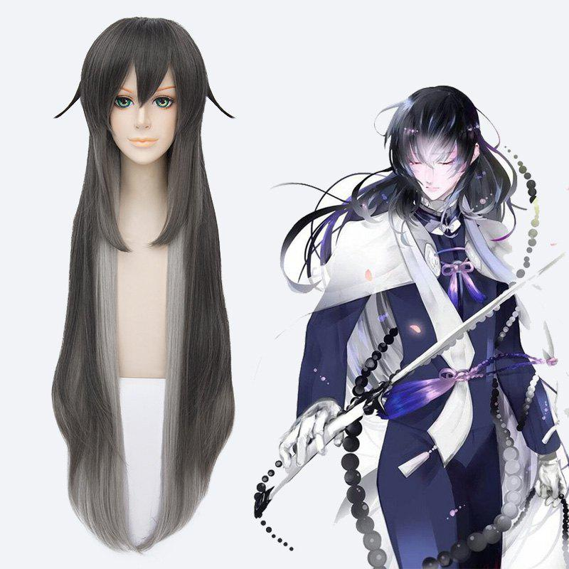 Synthetic Touken Ranbu Fluffy Straight Ombre Cosplay Wig
