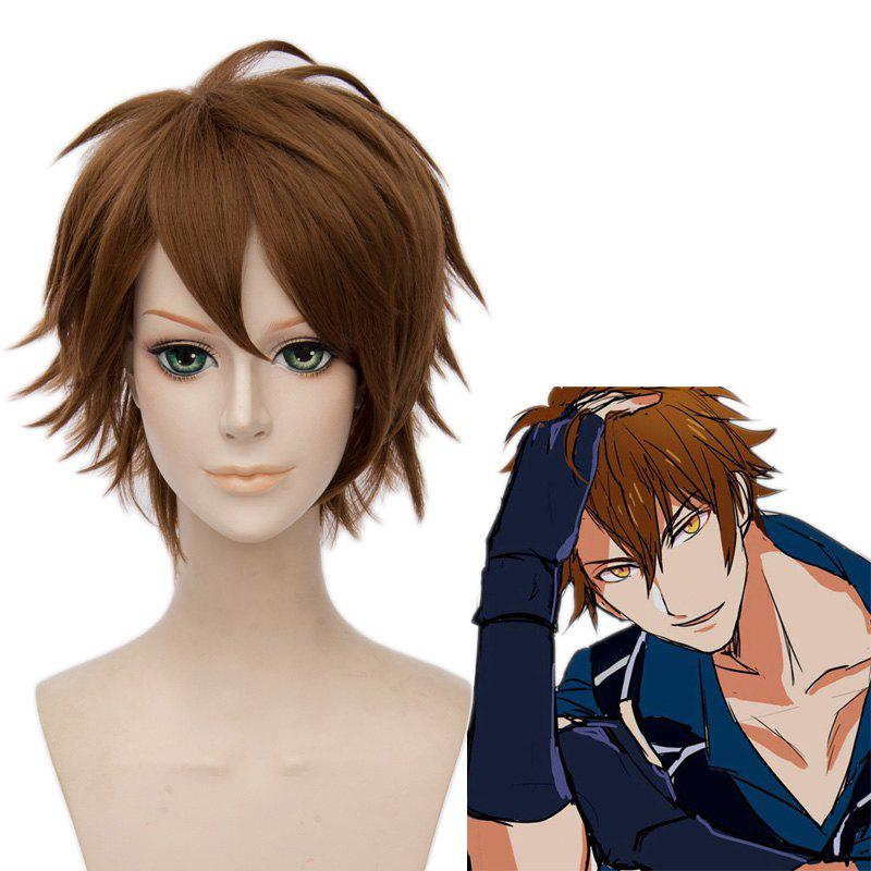 Fluffy Straight Synthetic Idolish7 Trigger Cosplay Short Straight Wig - BROWN