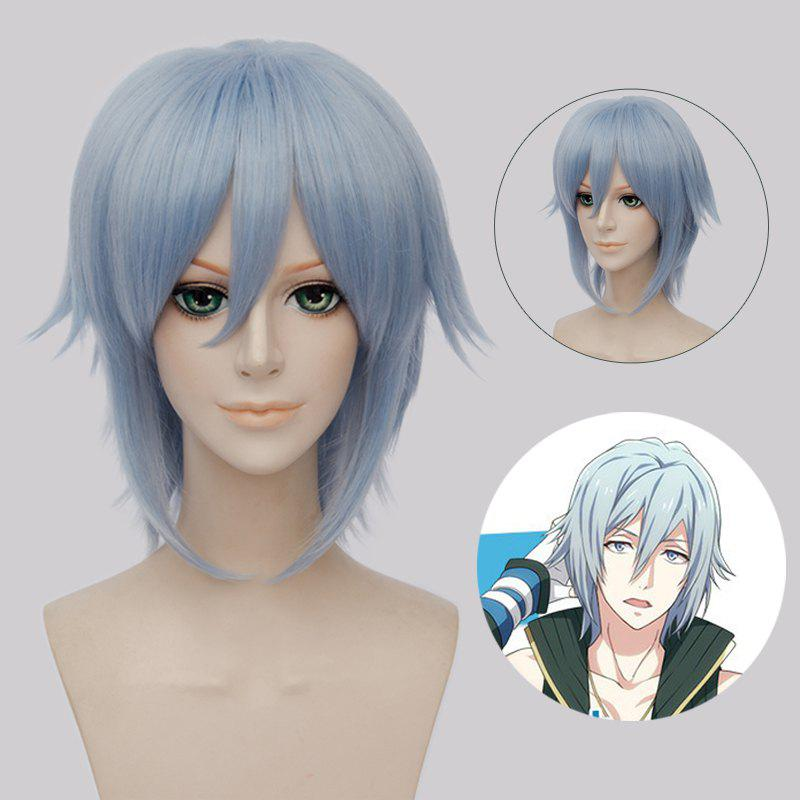 Fashion Straight Synthetic Idolish7 Cvken Cosplay Short Straight Wig - ICE BLUE