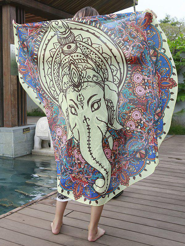 Elephant Pattern Chiffon Cover Up Sarong - COLORMIX ONE SIZE(FIT SIZE XS TO M)