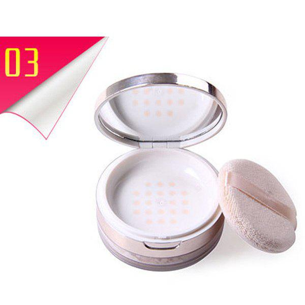 Cosmetic 6 Colours Creamy Velvet Powder Finishing Powder with Mirror and Puff - 3