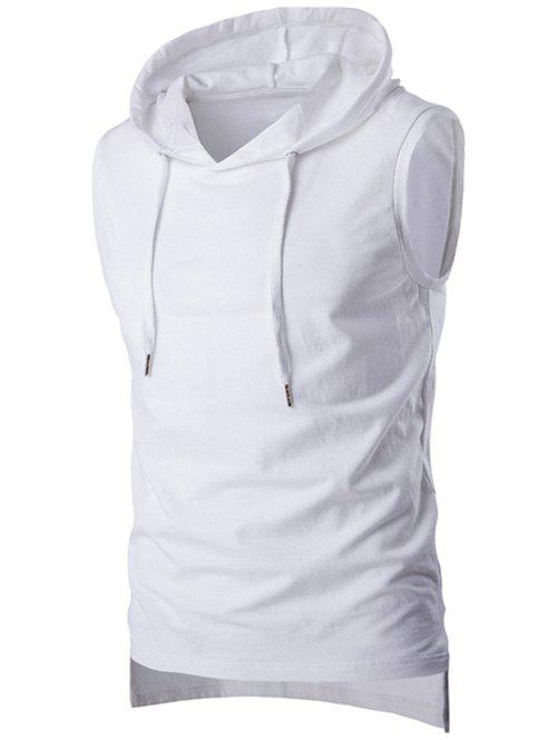 Stylish Hooded Solid Color Sleeveless Men's T-Shirt