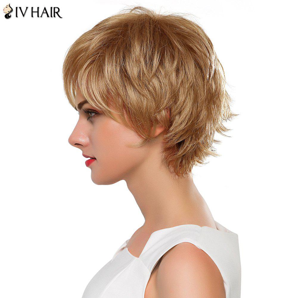 2018 Vogue Short Real Human Hair Fluffy Straight Layered