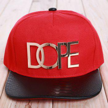 Chic Letter Shape and Badge Embellished Women's Baseball Cap - RED