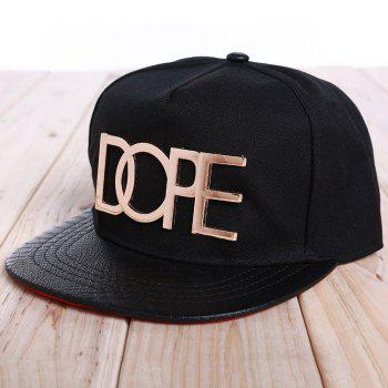 Chic Letter Shape and Badge Embellished Women's Baseball Cap - BLACK