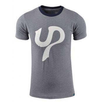 Printed Short Sleeves Cotton T Shirt For Men