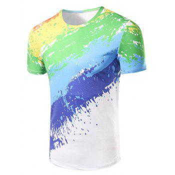 Men's Fashion Round Collar Painting T-Shirt