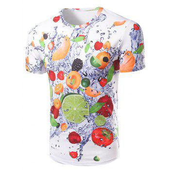 Men's Casual Short Sleeve 3D Fruits Printed T-Shirt