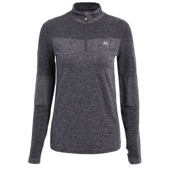 Trendy Long Sleeve Round Neck Sport T-Shirt For Women