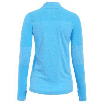 Trendy Long Sleeve Round Neck Sport T-Shirt For Women - S S