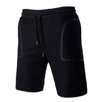 Transparent Pocket Design Lace-Up Fashionable Straight Leg Men's Shorts