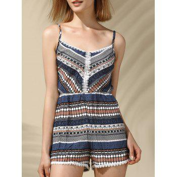 Ethnic Women's  Strappy Lace Embellished Romper