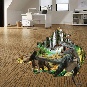 Active Removable Dinosaur Forest 3D Wall Art Sticker - COLORMIX