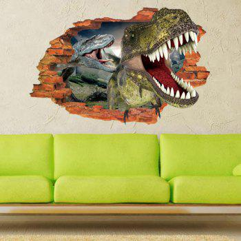 Buy Active Removable 3D Dinosaurs Forest Wall Art Sticker COLORMIX