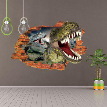 Active Removable 3D Dinosaurs Forest Wall Art Sticker - COLORMIX