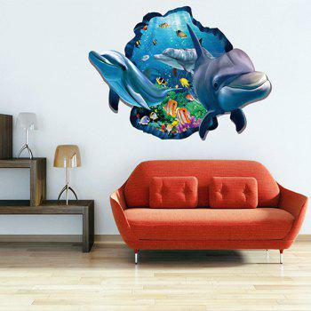 Active Removable 3D Cartoon Dolphin Ocean Wall Art Sticker