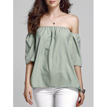 Sweet Off Shoulder Army Green Women's Top