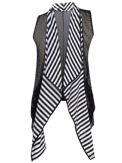 Men's Striped Mesh See-through Waistcoat