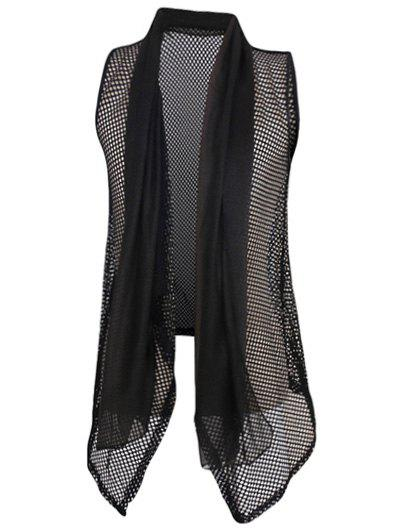 Men's Casual Thin Mesh See-through Waistcoat