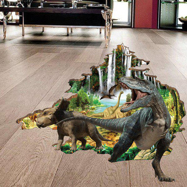 Active Removable Dinosaur Forest 3D Wall Art Sticker high quality removable 3d through the wall dinosaur wall art sticker