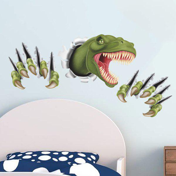 Active Removable 3D Through The Wall Dinosaur Wall Art Sticker