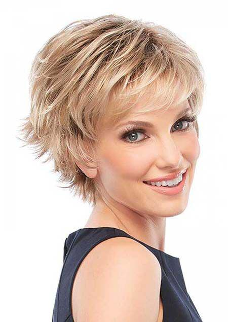 Spiffy Short Haircut Fluffy Straight Blonde Brown Mixed Synthetic Wig For Women - COLORMIX
