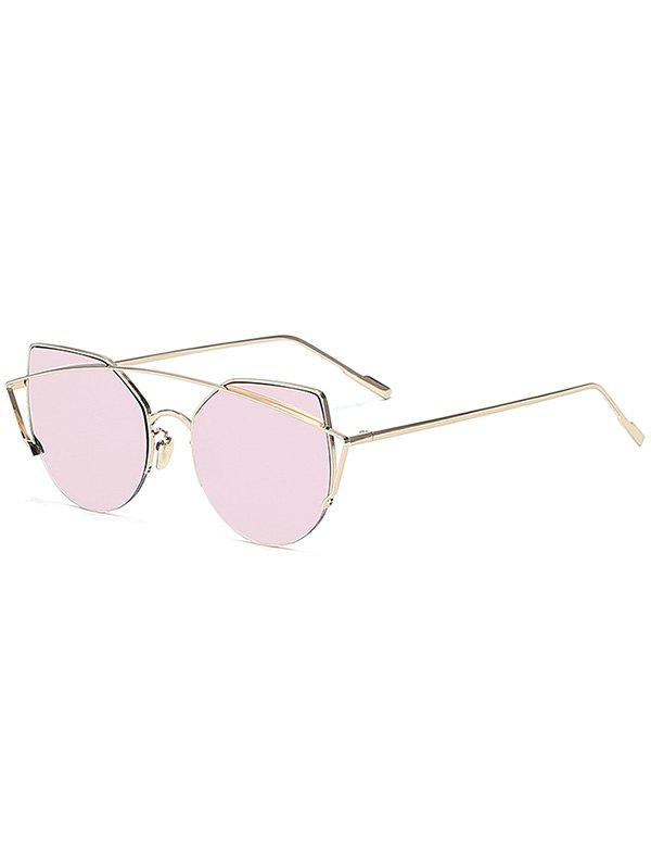 Chic Gold Crossbar Cat Eye Mirrored Sunglasses For Women rapo2 black frozen mirrored gold
