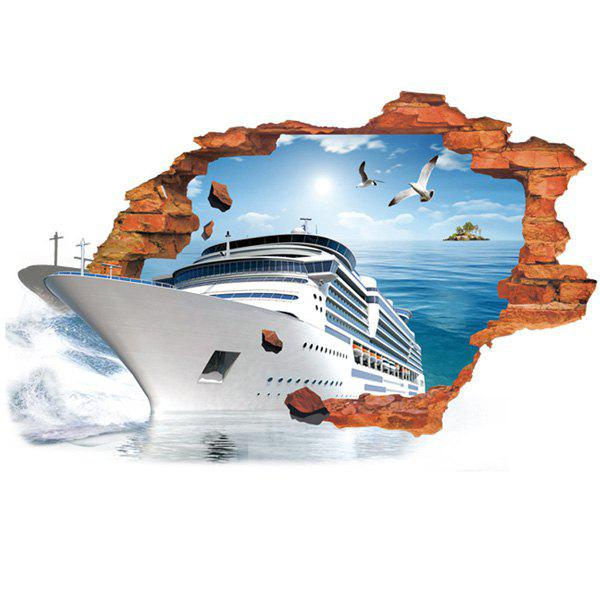 Active Removable 3D Steamship Sea Wall Art Sticker