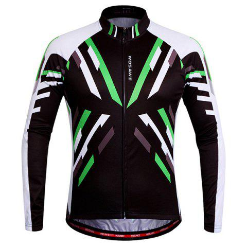 High Quality Breathable Quick Dry Cycling Long Sleeve Jersey For Unisex - COLORMIX 2XL