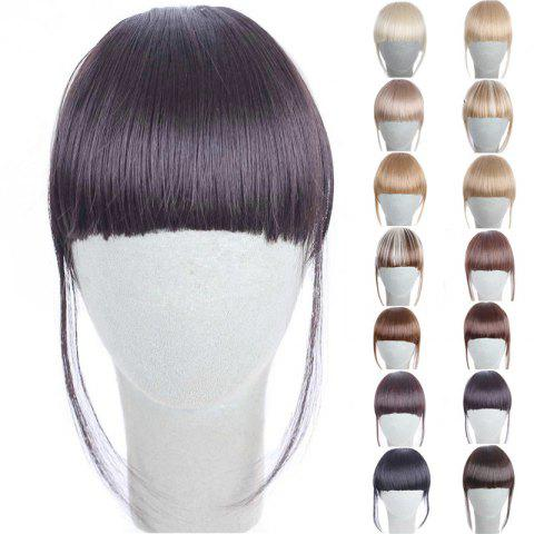 Fashion 14 Colors Clip In Synthetic Women's Front Full Bang With Sideburns - DEEP BROWN
