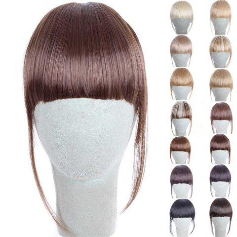 Fashion 14 Colors Clip In Synthetic Women's Front Full Bang With Sideburns - CHOCOLATE