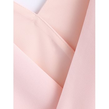 Stylish Women's  Stitching Color V-Neck Sleeveless Top - LIGHT PINK S