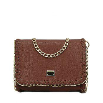 Trendy Chains and Stitching Design Crossbody Bag For Women