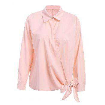 Ladylike Women's Shirt Collar Self-Tie Long Sleeve Blouse