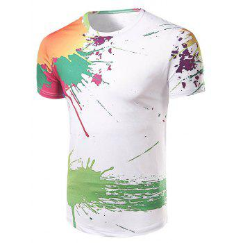 Men's Casual Short Sleeve Painting T-Shirt