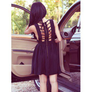 Open Back Sleeveless Bandage Cut Out Dress