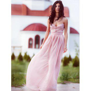 Maxi Chiffon Cami Bridesmaid Prom Formal Dress